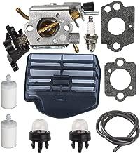 Butom C1M-EL37B 506450401 Carburetor + Air Filter+Fuel Filter+Fuel Line+Primer Bulb for Husqvarna 445 445E 450 450E Gas Chainsaw