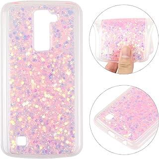LG K10 Back Case, LG K10 Cover, Rosa Schleife 3D Creative Design Sparkle Luxury Bling Glitter Soft TPU Bumper Phone Case Protective Skin Shell Cases Covers for LG K10 2016 Release