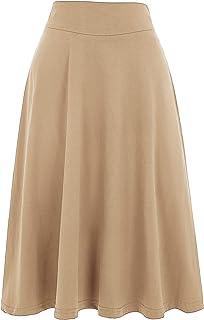 Kate Kasin Women's Casual Skirt High Waist Summer Pleated Skirt A Line Skirts KK279