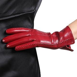 WARMEN Classic Women's Geniune Leather Winter Warm Gloves Simple Sytle