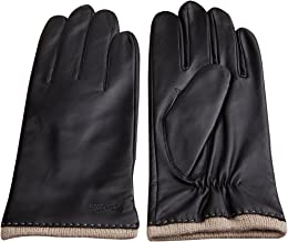 CHULRITA Mens Nappa Leather Gloves Warm Driver Leather Gloves with Knitting Cuff