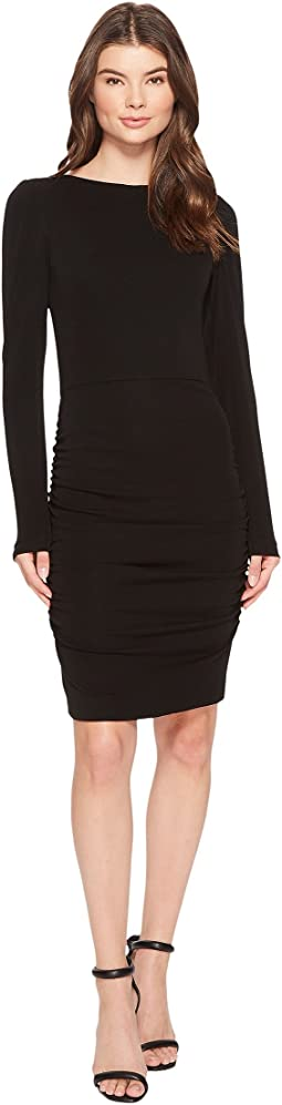 Nicole Miller Stretchy Matte Jersey Long Sleeve Dress