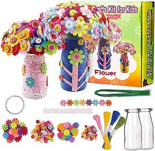 Fleurs Kit Bricolage Enfant Kit, D'art Bricolage Amusant Set Créatif Vase et Fleurs Projets D'art Fleurs Artisanat Cadeaux...
