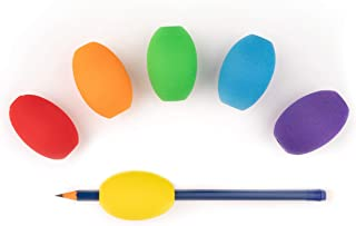 Basic Goods Pencil Pen Foam Egg Grips   Ergonomic Writing Aid Trainer for Cushion and Comfort Handwriting   Kids and Adults