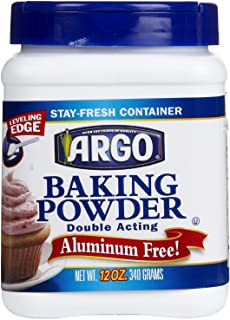 Argo Double Acting Aluminum Free Baking Powder 12oz Container (Pack of 6)