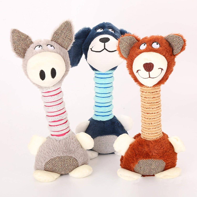 Abheihei Pet Plush Small Animal Toy Dog Molar Toy Pets Drive Away Lonely Biteresistant Wearresistant Toys (3 Pieces)