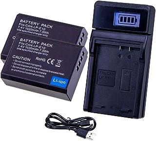 LUMOS Reemplazo batería LP-E10 (Paquete de 2) y cargador