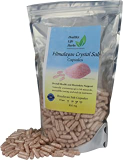 Pink Himalayan Salt Capsules 540 Caps (850 mg) Blood / Heart Support Energy