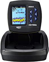LUCKY Fish Finder for Boat Fishing Kayak Fishing with 3.5-inch LCD High Definition Screen with Dual-Beam Sonar transducer 180M Detecting Depth
