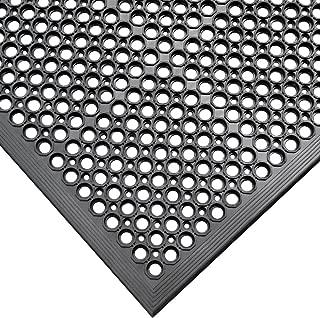 Rubber-Cal 03_122_WBK 1/2-inch Dura Chef Anti-Slip Rubber Kitchen Mat, 1/2