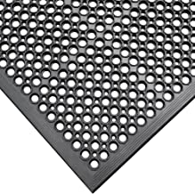 "Rubber-Cal 03_122_WBK 1/2-inch Dura Chef Anti-Slip Rubber Kitchen Mat, 1/2"" x.."