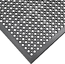 "Rubber-Cal 03_122_WBK 1/2-inch Dura Chef Anti-Slip Rubber Kitchen Mat, 1/2"" x.."