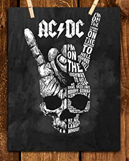 AC~DC Band Song Art Poster