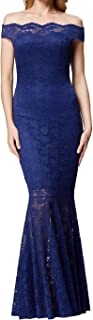 Women's Lace/Beading Mermaid Evening Gown Prom Fishtail Maxi Dress