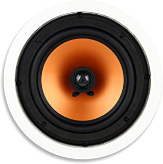 Micca M-8C 2-Way in Ceiling in Wall Speaker, 8 Inch Woofer, 1-Inch Pivoting Silk Dome Tweeter, 9.4-Inch Cutout Diameter, E...