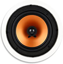 "Micca M-8C 8 Inch 2-Way In-Ceiling In-Wall Speaker with Pivoting 1"" Silk Dome Tweeter (Each, White)"