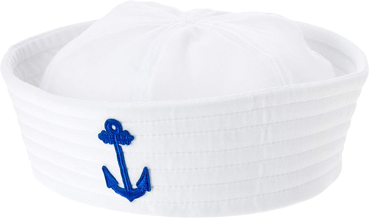 Amscan Popular brand in the world Blue Anchor Costume Opening large release sale Sailor Hat One Size White