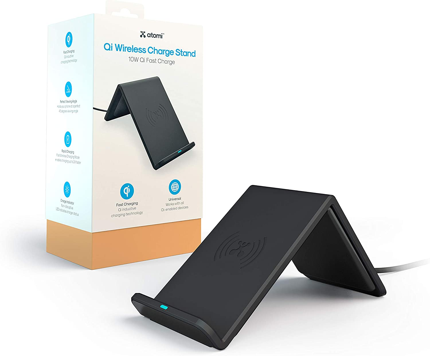 Atomi Qi Max 44% OFF Wireless Charge Stand Great interest - Fast Compa 10W