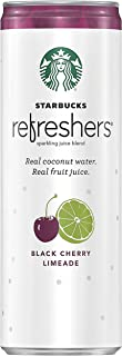 Sponsored Ad - Starbucks Refreshers Sparkling Juice Blends, Black Cherry Limeade with Coconut Water, 12 Fl. Oz (12 Pack)