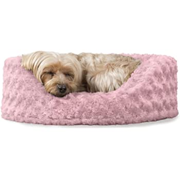 Furhaven Pet - Round Supportive Cuddler Nest Lounger Anti-Anxiety Dog Bed for Dogs & Cats - Multiple Styles, Sizes, & Colors