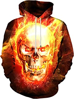 Neemanndy Unisex 3D Cool Printed Hoodies Personalized Hooded Sweater Sweatshirt with Big Pockets