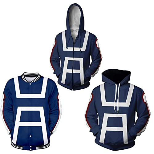 NoveltyBoy Boku No Hero Academia My Hero Academia Izuku Midoriya Hoodies Sweatshirt Costume Training Jacket Unisex