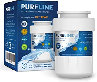 GE MWF Water Filter Replacement. Compatible with GE Models: MWF, MWFA, MWFP, MWFAP, MWFINT, GWF, GWFA, HWF, HWFA, FMG-1, SmartWater, GSE25GSHECSS, 197D6321P006 -by PURELINE (1 Pack)