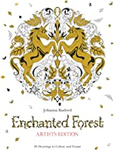 Enchanted Forest Artist's Edition: A Pull-Out and Frame Colouring Book