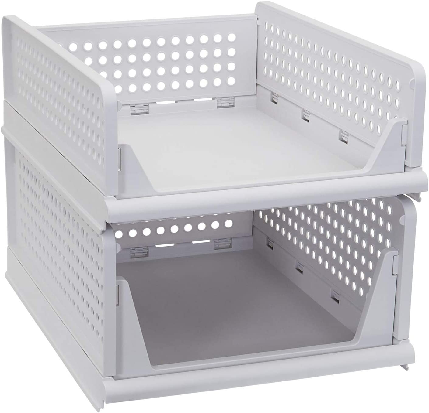Household Essentials White Stackable Desk Tray security 2 Tall a Fresno Mall Set of