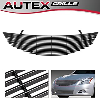 AUTEX Main Upper Horizontal Billet Grille Compatible with Nissan Altima Sedan 2010 2011 2012 Grill Insert N86880H