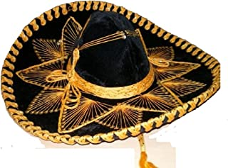 Black and Gold Mariachi Sombrero