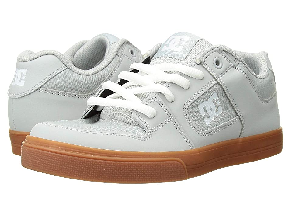 DC Kids Pure (Little Kid/Big Kid) (Grey/Gum) Boys Shoes