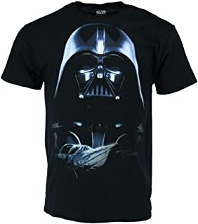 تي شيرت Star Wars Mens Darth Vader Commands، أسود