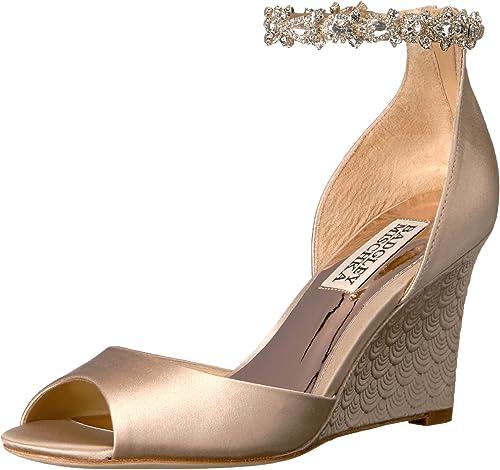 Badgley Mischka damen& 039;s Tahlia Wedge Sandal, Nude, 6.5 M US