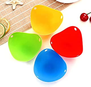 Silicone Egg Poacher Poaching Pods Egg Mold Bowl Rings Cooker Boiler Baking Cup Kitchen Cooking Cookware Tools 4PCS