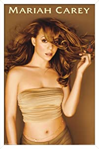 Trends International Mariah Carey-Gold Wall Poster, 14.725 in x 22.375 in, White Framed Version