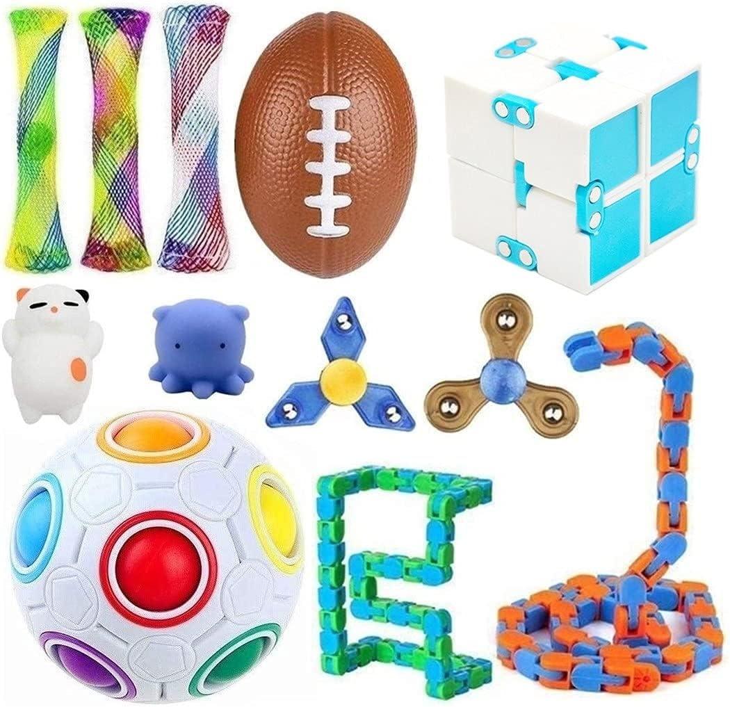 Fidget quality assurance Toy Pack 12 Pcs Sensory Teens Toys Kids Quantity limited A Set for
