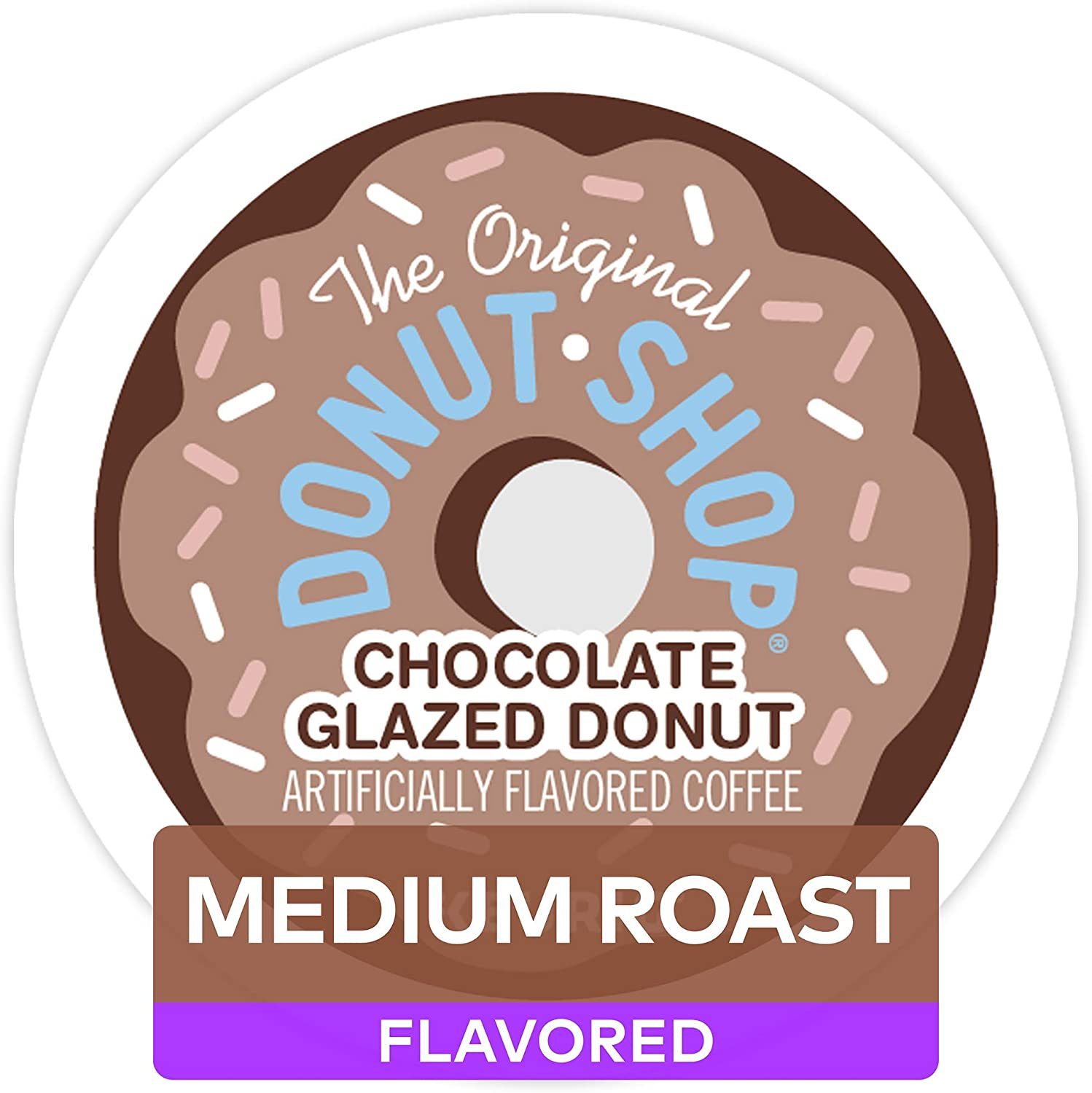 The Original Donut Shop Single Serve K Cup Pod Flavored Coffee, Chocolate Glazed Donut, 72Count
