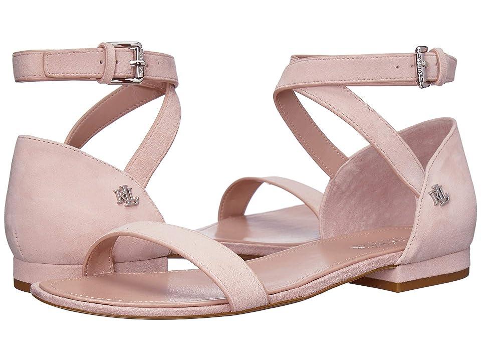 3a3100cdaaa0 LAUREN Ralph Lauren Davison (Pearl Pink Suede) Women s Shoes