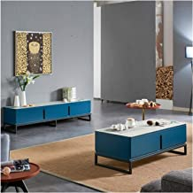 Modern Light Luxury Coffee Table TV Cabinet Combination Paint Cabinet Simple Modern Family Living Room Locker Annacboy (Co...