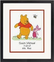 Dimensions 70-35357 Disney Winnie The Pooh Birth Record Counted Cross Stitch Kit, Winnie The Pooh Cross Stitch, 8