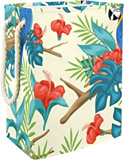 Yuzheng Panier à Linge avec Support Boîte de Rangement étanche Pliable et Organisateur Panier à Panier à Linge Sale Fleur ...