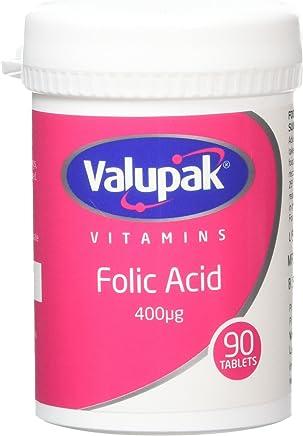 Valupak Vitamins Supplements Folic Acid 400mcg 90 Tablets