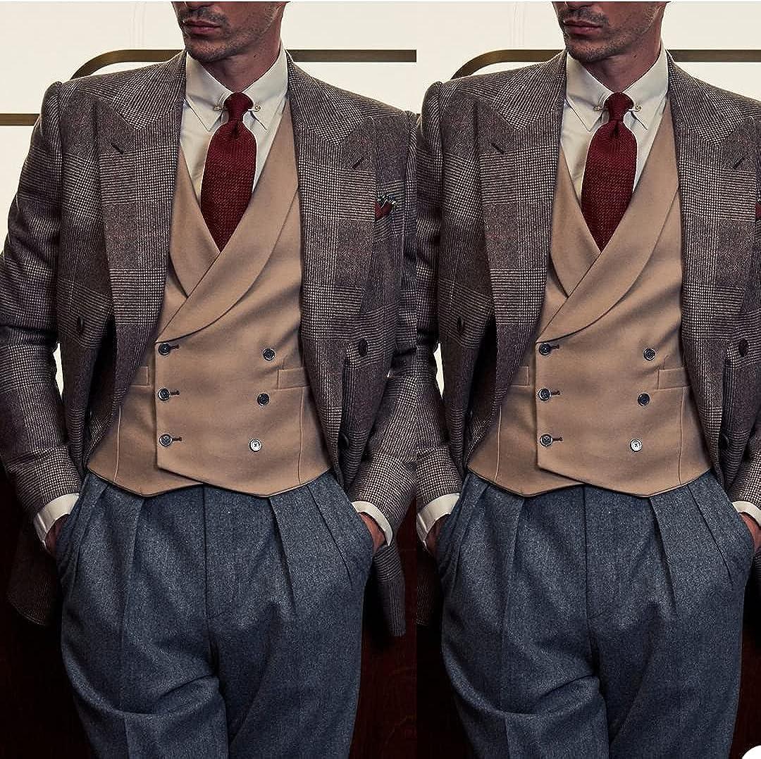 Twill Straight Suit Jacket Shoulder Pad Jacket Peak Lapel Retro Temperament Blazer