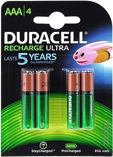 DURACELL Duralock Recharge Ultra HR03 accu 850mAh 4-delige blister, 1,2 V, NiMH