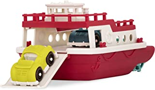 Wonder Wheels by Battat VE1008Z Ferry Boat Floating Bath Toy with Cars For Toddlers Age 1 & Up (3 Pc) 100% Recyclable