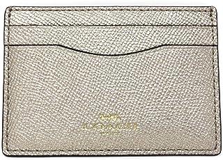 Coach F23339 Metallic Crossgrain Leather Platinum Card Case