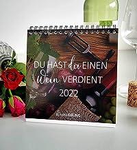 """Bordskalender """"Du hast dir ein vin"""" 2022, vinordspråk kalender för vinvänner"""