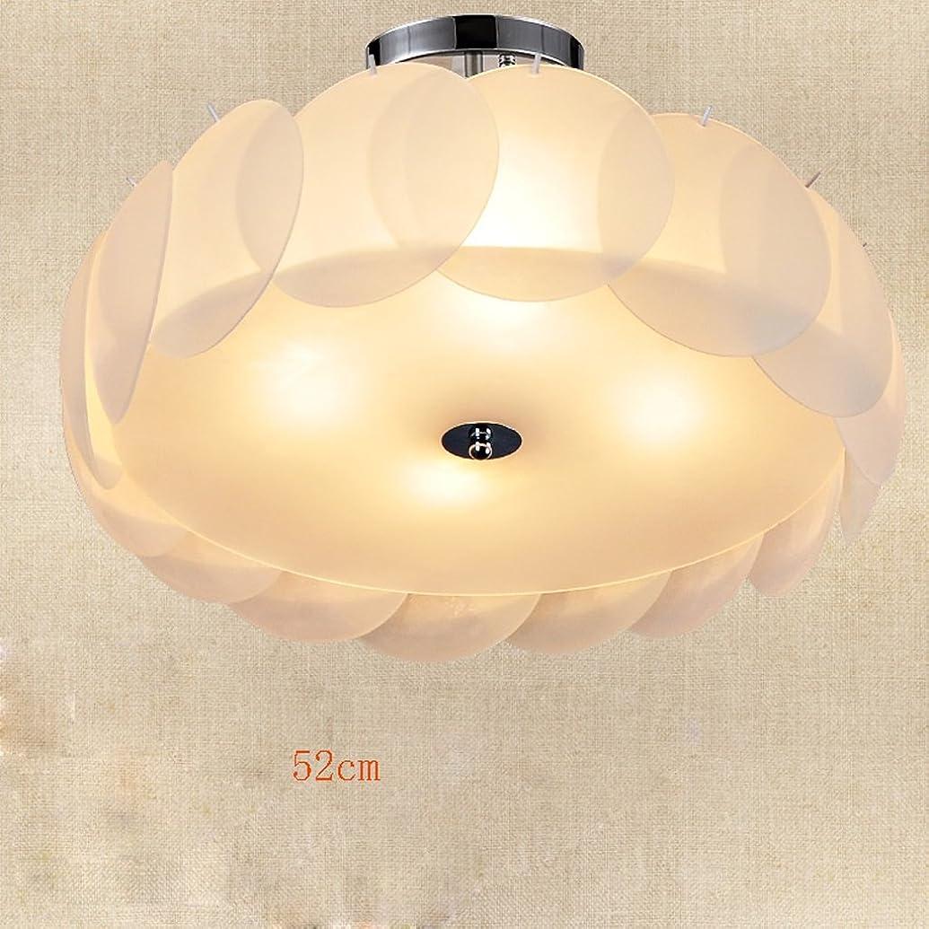 増幅資格納税者YSYYSH 5 12平方メートルに適した52センチメートルなめらかなミニマリストのベッドルーム天井ランプ暖かいロマンチックアートロマンチックなリビングルームの天井のランプレストラン調査天井ランプ 寝室の装飾ライト