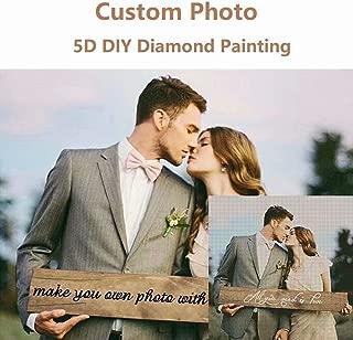 Personalized Custom Photo Diamond Painting 5D DIY Diamond Painting, Full Drill Diamond Embroidery Kit Home Wall Decor